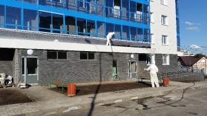Гидроизоляция входных групп на жилом доме в городе Елабуга, пр. Нефтянников дом 68